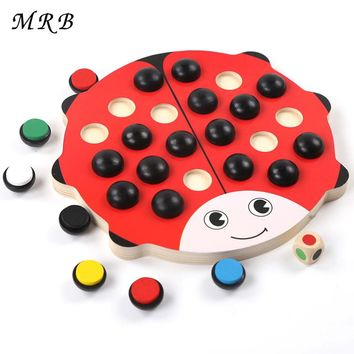 Baby Toys Beetles Memory Chess Red Board 22 Pieces Colorful Dice Learning Educational Preschool Training Toys for Children