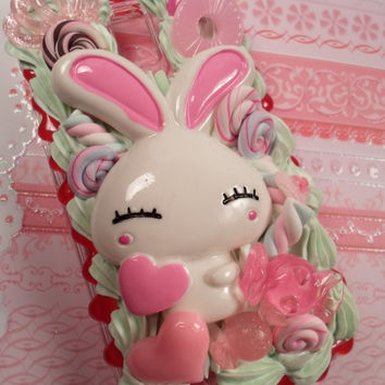 Kawaii Love Bunny Decoden Deco Case for Samsung by Lucifurious