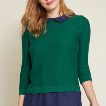 Classroom Charisma Sweater in Forest
