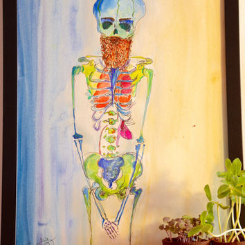 Hipster with Beard and other vital organs