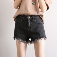 DCCK7XP Fashion High-Waisted Denim Shorts