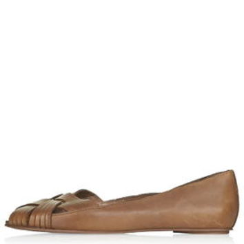 ORACLE Peeptoe Flats - Tan