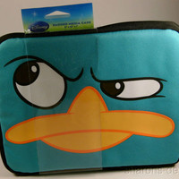 Disney Phineas Ferb Agent P iPad Media Case Sleeve Zipper Padded US Shipper NIP