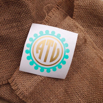 Car Decal Monogram Sticker Monogram Decal From ThreeInitials On - Monogram car decal sticker