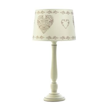 Ceramic Vintage Hearts Table Lamp