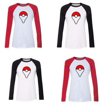 Pokemon Ball Print Long Sleeve Sweatshirt