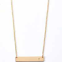 Adorn512 Initial S Bar Necklace