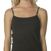 Amazon.com: Bella Ladies Cotton/Spandex Spaghetti Strap Camisole Top Tee T-Shirt - Chocolate: Clothing