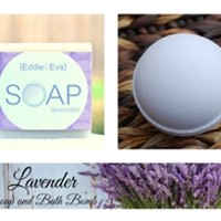 Lavender Soap and Bath Bomb Combo