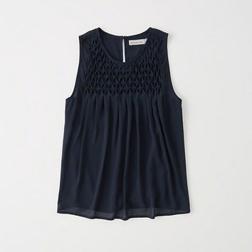 Womens Smocked Sleeveless Top | Womens New Arrivals | Abercrombie.com
