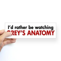 Grey's Anatomy Fan Sticker (Bumper)> Grey's Anatomy TV Store