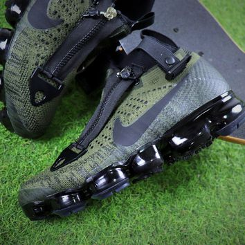 Acronym x Nike Air VaporMax 2018 Zipper Army Green Sport Running Shoes - Sale