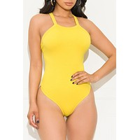 Not Waiting For You Bodysuit Yellow
