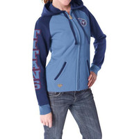 Reebok Tennessee Titans Women's Letterman Full Zip Hooded Sweatshirt