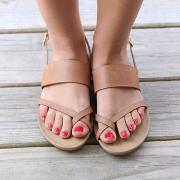Chinese Laundry Marley Cognac Tan Sandals