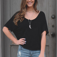 Campus Charm Top - Black