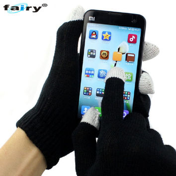 JY 29 Fairy Store 2016 Hot Selling Unisex Magic Touch Screen Gloves Texting Smartphone iphone Stretch Winter Knit