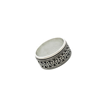 Beta Infinity Sterling Silver Spinner Ring