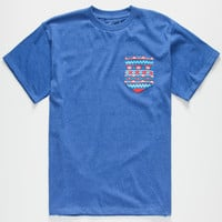 Riot Society Tribal Boys Pocket Tee Blue  In Sizes