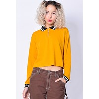 Runaway Zip Top Polo - Mustard