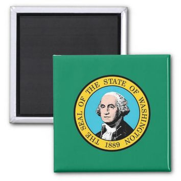 Magnet with Flag of Washington State - USA