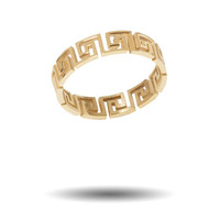 "* Mr. Greek Cut Out Ring (Gold)* - Mister - ""Day by Day"""