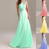 2013New!ELegant One Shoulder Evening PromParty Long Dress