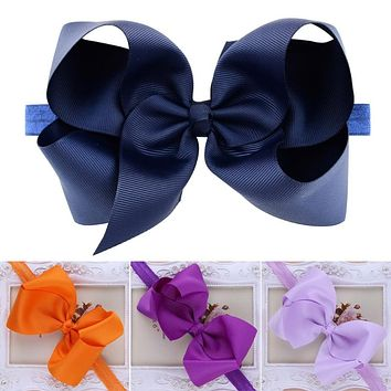 Kids Girl Baby Headband Big Bow Head wear Headdress Hair Band Accessories Color