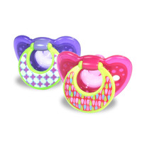 TOMY GumDrop 6-18 Month Toddler Hospital Pacifier 2 Pack - Girl