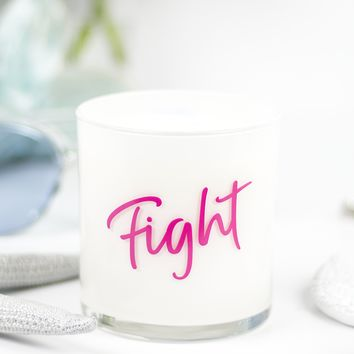 Fight Quote Jar in Fairy's Dust Scent
