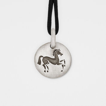 Horse Charm Pendant in Sterling Silver