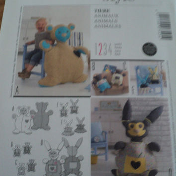 Sewing Pattern Burda Baby Stuffed Bear/Rabbit 7545
