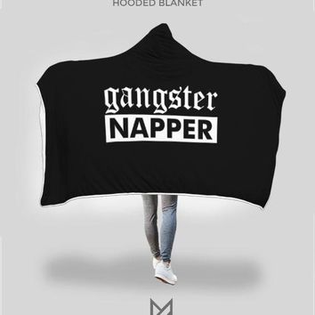 Gangster Napper Hooded Blanket