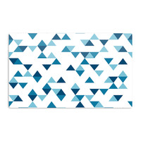"Project M ""Triangles Blue"" Navy White Aluminum Magnet"