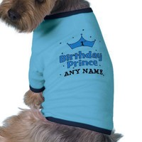 1st Birthday Prince Pet Shirt from Zazzle.com
