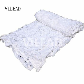 VILEAD 2M x 7M (6.5FT x 23FT) Military Camouflage Net White Army Digital Camo Netting Sun Shelter for Car Covers Hunting Camping