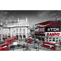 London Piccadilly Circus Art Print Poster | Salem State University Dorm Room Decor | OCM.com