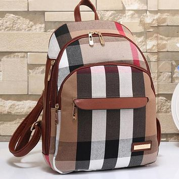 Perfect Burberry Women Leather Bookbag Shoulder Bag Handbag Backpack
