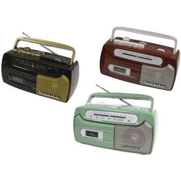 Studebaker SB2127BG Portable Cassette Player and Recorder with FM Radio - Walmart.com
