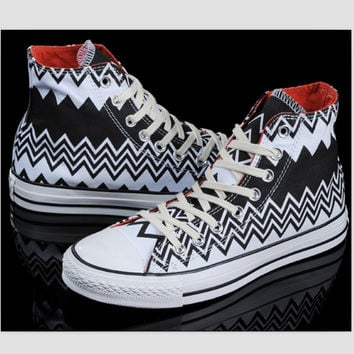 """Converse"" Fashion Canvas Flats Sneakers Sport Shoes High tops Wave"