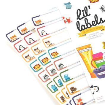 Lil' Labels - Animal Friends Seal & Stick Bottle Labels