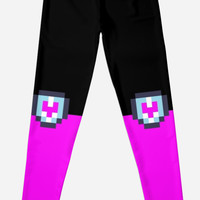 HEART TO HEART LEGGINGS - INSPIRED BY METTATON EX FROM UNDERTALE by Laylaverse