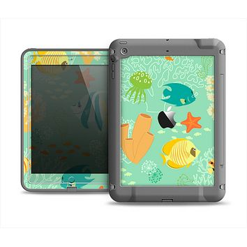 The Colorful Bright Saltwater Fish Apple iPad Mini LifeProof Fre Case Skin Set