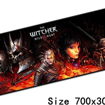 witcher mouse pad best 700x300mm cute gaming mousepad gamer mouse mat High-end pad keyboard computer padmouse laptop play mats