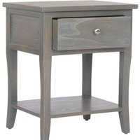 Coby End Table With Storage Drawer French Grey
