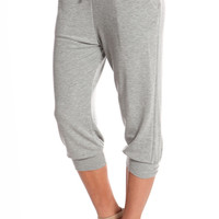 GREY LOUNGE CAPRI SWEATPANTS