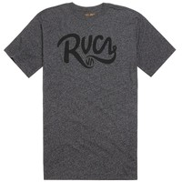 RVCA Grip Script T-Shirt - Mens Tee - Black -