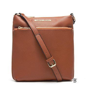 MK Women Shopping Bag Leather Satchel Crossbody Shoulder Bag Brown I-LLBPFSH