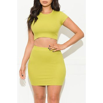 Double Take Two Piece Set Lime