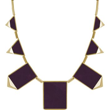 House of Harlow 1960 Jewelry Classic Staton Pyramid Necklace in Violet